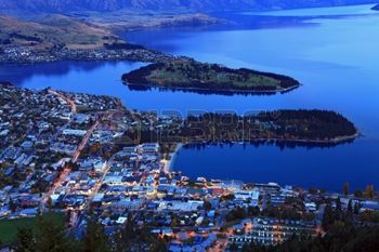9382363-aerial-view-of-queenstown-downtown-at-dusk